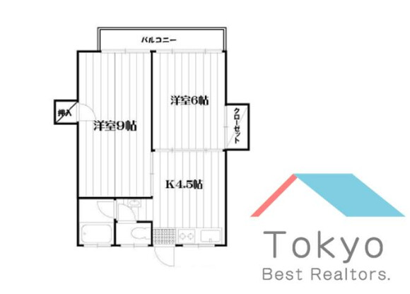 2K Apartment to Rent in Nakano-ku Floorplan