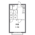 1K Apartment in Sakamachi - Shinjuku-ku Floorplan