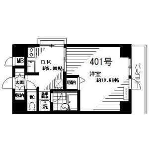 1DK Mansion in Negishi - Taito-ku Floorplan