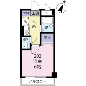 1K Apartment in Mishuku - Setagaya-ku Floorplan