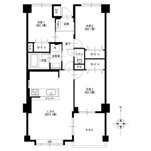 3LDK {building type} in Chuo - Ebina-shi Floorplan