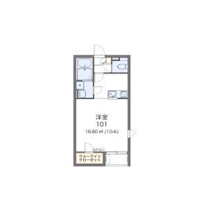 1K Apartment in Jokoji - Amagasaki-shi Floorplan