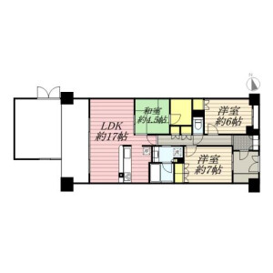 3LDK Mansion in Shimorenjaku - Mitaka-shi Floorplan