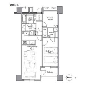 1SLDK 맨션 in Sakuragaokacho - Shibuya-ku Floorplan