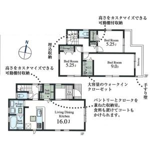 3LDK {building type} in Fujimicho - Higashimurayama-shi Floorplan