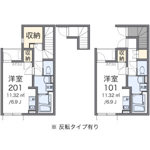 1R Apartment in Naritanishi - Suginami-ku Floorplan