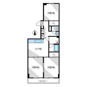 3DK Mansion in Egota - Nakano-ku Floorplan