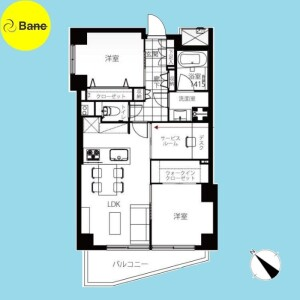 2SLDK {building type} in Aobadai - Meguro-ku Floorplan