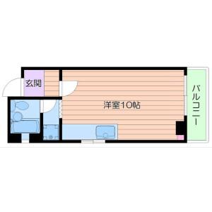 1R Mansion in Minamisemba - Osaka-shi Chuo-ku Floorplan