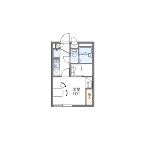 1K Apartment in Minamidenen - Fussa-shi Floorplan