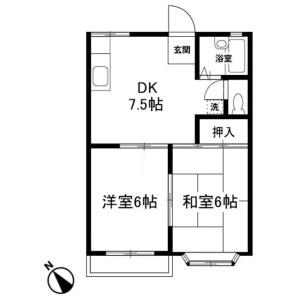 2DK Apartment in Isobe - Sagamihara-shi Minami-ku Floorplan