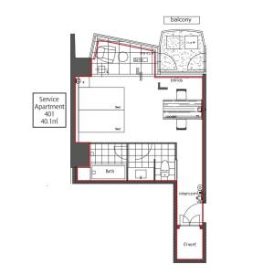 千代田区 - 服务式公寓 楼层布局
