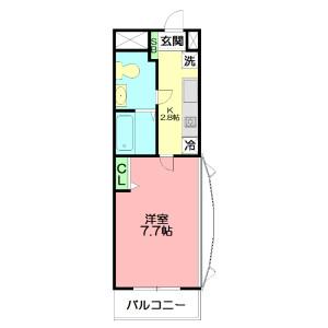 藤澤市亀井野-1K公寓大廈 房間格局