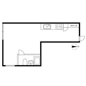 1R Mansion in Higashiazabu - Minato-ku Floorplan
