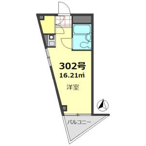 1R Apartment in Nishikojiya - Ota-ku Floorplan