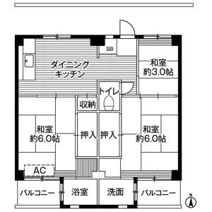 3DK Mansion in Uragamidai - Yokosuka-shi Floorplan