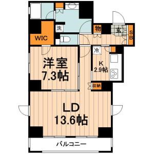 1LDK Mansion in Kandajimbocho - Chiyoda-ku Floorplan