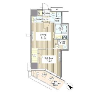 1DK Mansion in Yoyogi - Shibuya-ku Floorplan