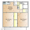 2DK Apartment to Rent in Setagaya-ku Floorplan