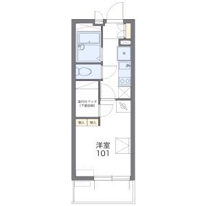 1K Mansion in Tendai - Chiba-shi Inage-ku Floorplan