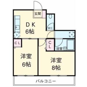 2DK Mansion in Ikegami - Ota-ku Floorplan