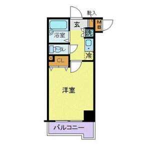 1K Mansion in Nakane - Meguro-ku Floorplan