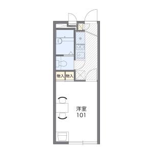 1K Apartment in Kaminagaya - Yokohama-shi Konan-ku Floorplan