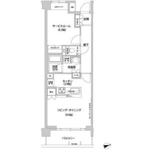 1R Mansion in Aobadai - Meguro-ku Floorplan