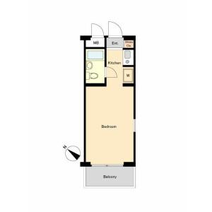 1R Mansion in Higashiyaguchi - Ota-ku Floorplan