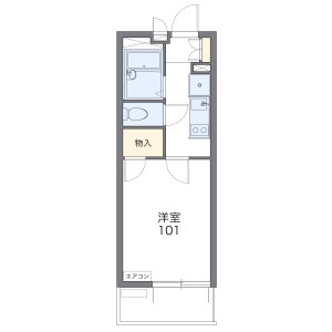 1K Mansion in Kitazakae - Urayasu-shi Floorplan