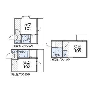1R Apartment in Yakumo - Meguro-ku Floorplan