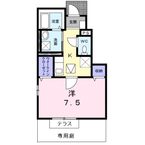 1K Apartment in Asahigaoka - Nerima-ku Floorplan