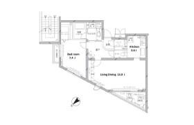 1LDK Apartment in Hachiyamacho - Shibuya-ku