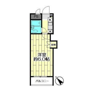 1K {building type} in Nishikanagawa - Yokohama-shi Kanagawa-ku Floorplan