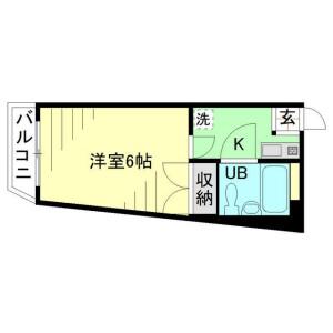 1K Mansion in Ikuta - Kawasaki-shi Tama-ku Floorplan