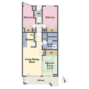 3LDK Apartment in Nakazato - Kita-ku Floorplan