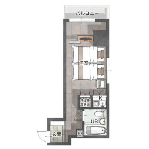 1R Mansion in Okinacho - Yokohama-shi Naka-ku Floorplan
