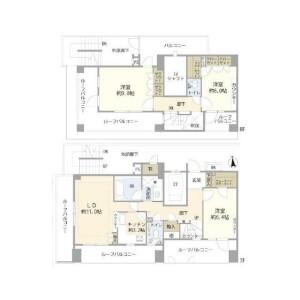 3LDK {building type} in Azabujuban - Minato-ku Floorplan