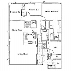 港区南麻布-3LDK公寓 楼层布局