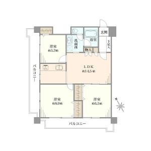 3LDK Apartment in Shibaura(1-chome) - Minato-ku Floorplan