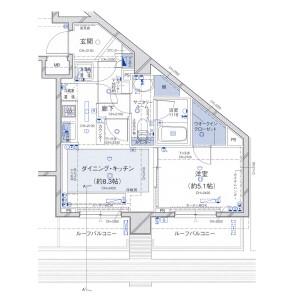 千代田区九段南-1DK公寓大厦 楼层布局