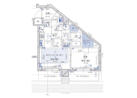 在千代田區內租賃1DK 公寓大廈 的房產 房間格局