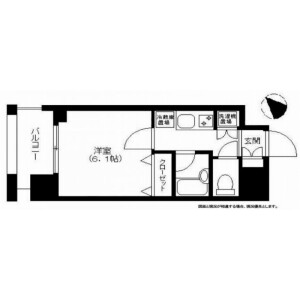 1K Mansion in Hatagaya - Shibuya-ku Floorplan