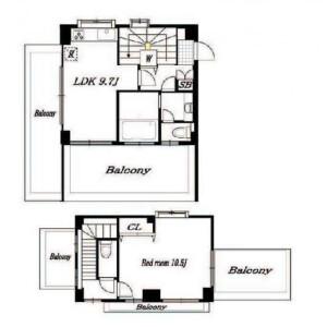 1LDK Mansion in Ebisunishi - Shibuya-ku Floorplan