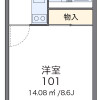 1K Apartment to Rent in Moriguchi-shi Floorplan