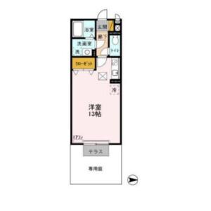 1R Apartment in Wakashiba - Kashiwa-shi Floorplan
