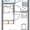 1K Apartment to Rent in Nagoya-shi Atsuta-ku Floorplan