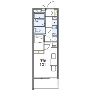 1K Mansion in Nakadecho - Nagoya-shi Atsuta-ku Floorplan
