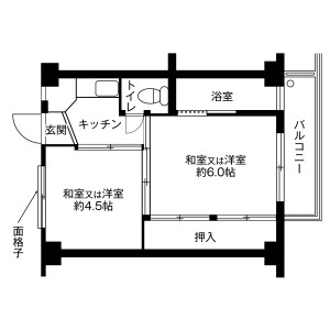 一宮市西萩原-2K公寓大廈 房間格局
