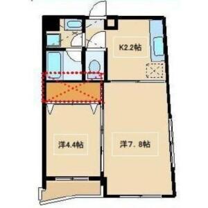 2K Mansion in Hatagaya - Shibuya-ku Floorplan